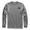 The North Face Men ' S Long Sleeve Brand Proud Cotton Tee - Medium Grey