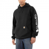 Carhartt M Mw Signature Sleeve Logo Hoodie - Dark Brown