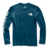 The North Face Men ' S Long Sleeve Tnf Sleeve Hit Tee - Blue Wing Teal