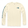 The North Face Men ' S Long Sleeve Tnf Sleeve Hit Tee - Vintage White