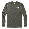 The North Face Men ' S Long Sleeve Red Box Tee - New Taupe Green