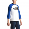 The North Face Women ' S 3 / 4 Half Dome Baseball Tee - White / Blue