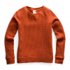 The North Face Women ' S Long Sleeve Chabot Crew - Picante Red