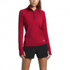 The North Face Women ' S Essential 1 / 2 Zip Pullover - Cardinal Red