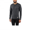 Carhartt M Base Force Midweight Classic Henley Top - Shadow Grey
