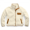 The North Face Women ' S Cragmont Fleece Jacket - Vintage White / Cedar Brown