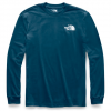 The North Face Men ' S Long Sleeve Red Box Tee - Blue Wing Teal