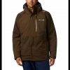 Columbia Men ' S Wildside Omni - Heat Jacket - Bright Copper / Boulder Heather
