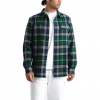 The North Face Men ' S Arroyo Flannel Long Sleeve Shirt - Night Green Speed Wagon Plaid