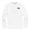 The North Face Men ' S Long Sleeve Red Box Tee - Tnf White