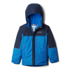 Columbia Youth Boy ' S Mighty Mogul Jacket - Super Blue Check / Collegiate Navy