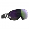 Scott Women ' S Lcg Compact Goggle - Black White / Enhancer Green Chrome