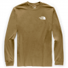 The North Face Men ' S Long Sleeve Red Box Tee - British Khaki
