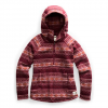 The North Face Women ' S Printed Crescent Hooded Pullover - Picante Red Fairisle Print