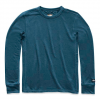 The North Face Men ' S Long - Sleeve Terry Crew - Blue Wing Teal
