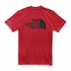 The North Face Men ' S Short Sleeve Half Dome Tee - Tnf Red / Tnf Black