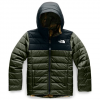 The North Face Youth Boy ' S Reversible Perrito Jacket - New Taupe Green / Dark Green Camo