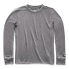 The North Face Men ' S Long - Sleeve Terry Crew - Tnf Medium Grey