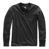 The North Face Men ' S Long Sleeve Tnf Terry Henley - Tnf Dark Grey Heather