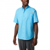 Columbia Mens Tamiami Ii Short Sleeve Shirt - Rip Tide