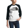 The North Face Women ' S 3 / 4 Half Dome Baseball Tee - White / Black
