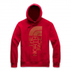 The North Face Men ' S Rivert Patch Pullover Hoodie - Cardinal Red