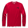The North Face Men ' S Long Sleeve Brand Proud Cotton Tee - Cardinal Red