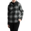 The North Face Women ' S Printed Crescent Hooded Pullover - Highrise Grey Ombre Plaid Small