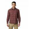 Mountain Hardwear Men ' S Burney Falls Long Sleeve Shirt - Dark Umber