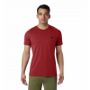 Mountain Hardwear Men ' S Hardwear Logo Short Sleeve T - Shirt - Dark Brick