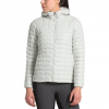 The North Face Women ' S Thermoball Eco Hoodie - Tin Grey / Kelpie Green