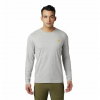 Mountain Hardwear Men ' S Hardwear Logo Long Sleeve T - Shirt - Heathered Grey