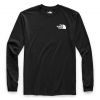 The North Face Men ' S Long Sleeve Red Box Tee - Tnf Black