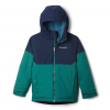 Columbia Youth Boys Alpine Action Ii Jacket - Pine Green Heather / Collegiate Navy