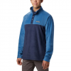 Columbia Men ' S Steens Mountain Half Snap Fleece Pullover - Collegiate Navy / Scout Blue