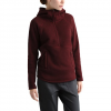The North Face Women ' S Crescent Hooded Pullover - Deep Garnet Red Heather