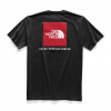 The North Face Men ' S Short Sleeve Red Box Tee - Tnf Black