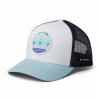 Columbia Youth Snap Back Ball Cap - 100white / Skyblue