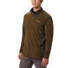 Columbia Men ' S Klamath Range Half Zip - Olive Green / Shark