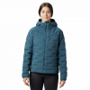 Mountain Hardwear Women ' S Super / Ds Stretchdown Hooded Jacket - Icelandic