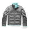 The North Face Youth Girl ' S Reversible Mossbud Swirl Jacket - Tnf Medium Grey