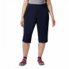 Columbia Women ' S Anytime Casual Capri ( Extended Sizes ) - Nocturnal