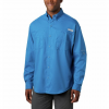 Columbia Men ' S Pfg Tamiami Ii Long Sleeve Shirt - Sunset Red