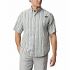 Columbia Men ' S Pfg Super Tamiami Short Sleeve - Spring Mid Check