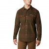 Columbia Men ' S Flare Gun Corduroy Shirt - Green Large Check