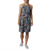 Columbia Women ' S Pfg Armadale Ii Halter Top Dress - Cirrus Grey Wave Leaves Print