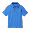 Columbia Boys ' Tech Trek Polo - Azure Blue