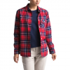 The North Face Women ' S Long Sleeve Boyfriend Shirt - Tnf Red Berkeley Twill Plaid