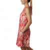 Columbia Women ' S Chill River Printed Dress - Bright Poppy Rubbed Texture Print