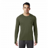 Mountain Hardwear Men ' S Ghee Long Sleeve Crew - Dark Army
